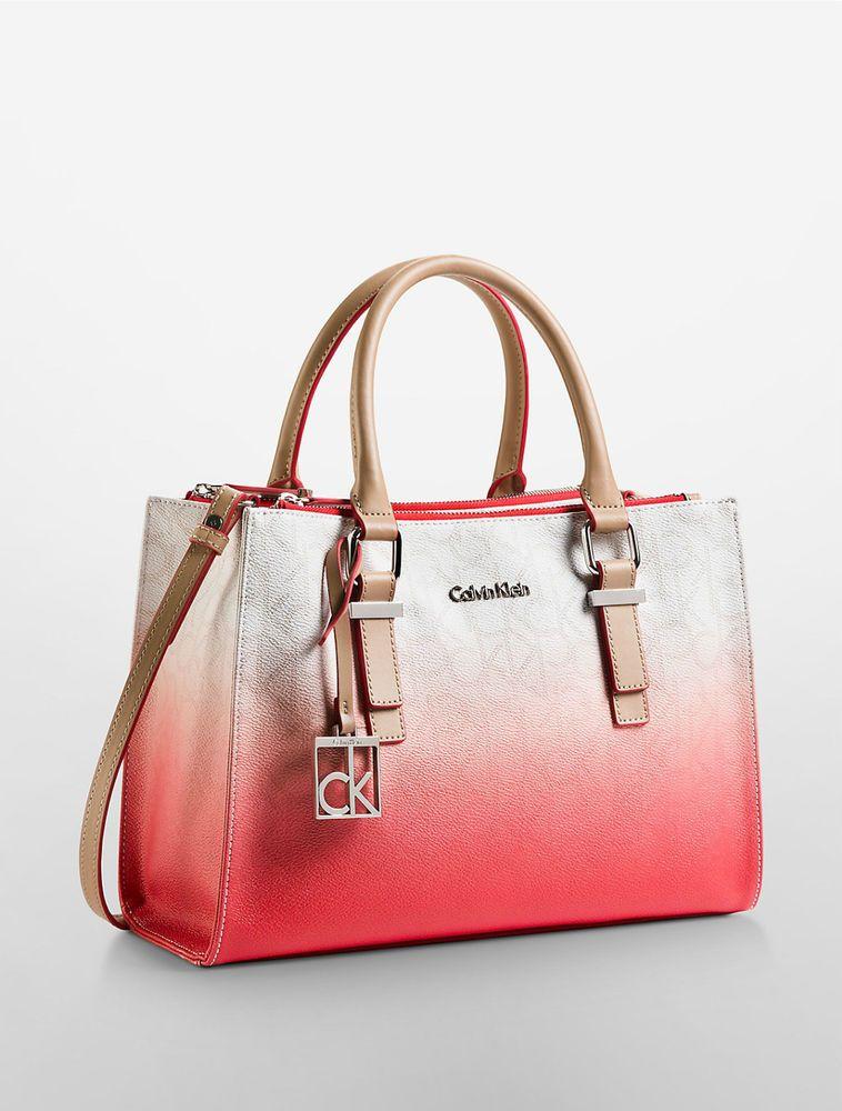 0321b5d03c1 calvin Klein womens jordan ombre city double zip carryall bag handbag crest  #CalvinKlein #Satchel