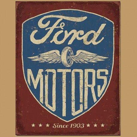 Enseigne En Metal Avec Fini Vieillit Ford Depuis 1903 Future