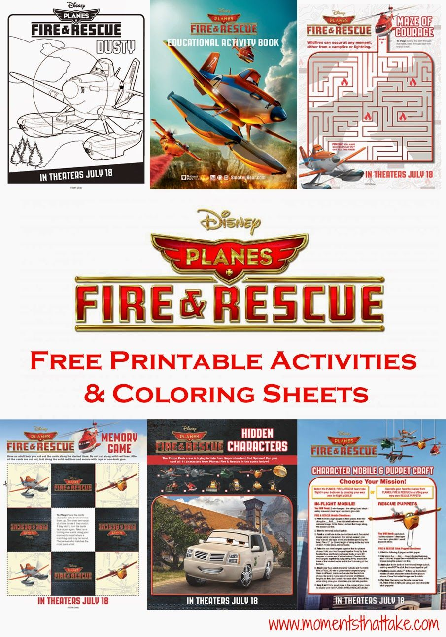 Disney Planes Fire And Rescue Free Printable Coloring Pages And Activities Planes Birthday Party Disney Planes Party Fire Rescue Birthday