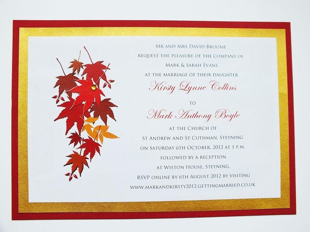 fall themed wedding invitations | Wedding | Pinterest | Themed ...