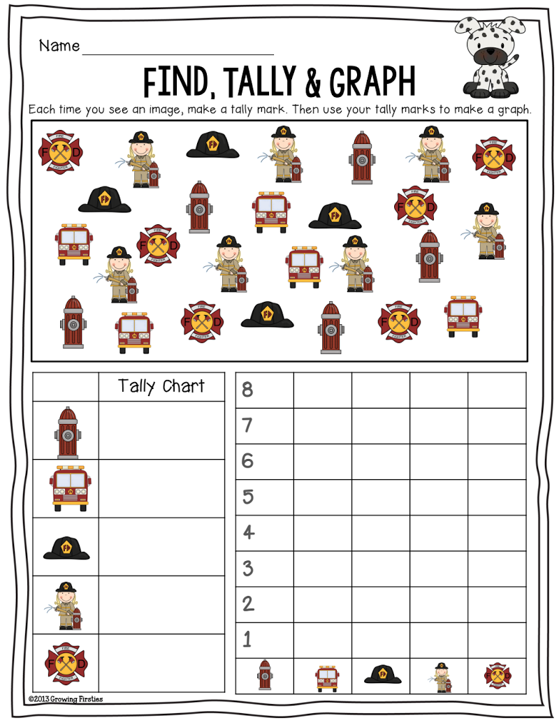 Fire Safety Find Tally Graph Pdf Fire Safety Preschool Fire Safety Math Fire Safety Kindergarten [ 1035 x 800 Pixel ]