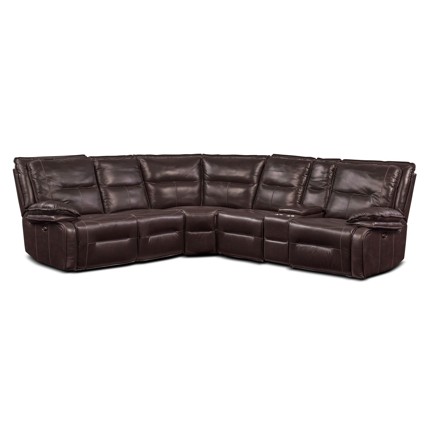 Living Room Furniture Nikki 6 Piece Power Reclining Sectional