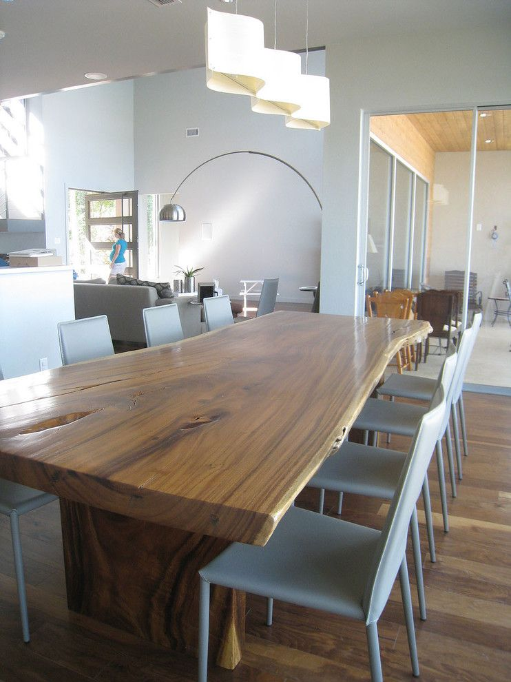 Unique Kitchen Tables Dining Room Contemporary With Arc Lamp