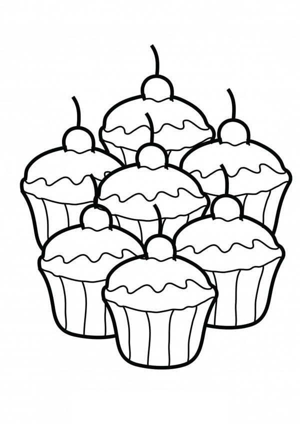 25+ Cupcake Clipart Black And White