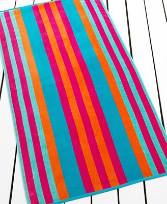 Lauren Ralph Lauren Towels Caribbean Stripe Beach Towel The