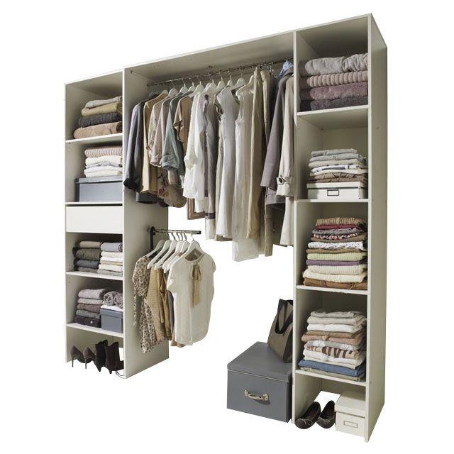 dressing extens dimensions : l. 160 à 218 x p. 50 x h. 212 cm