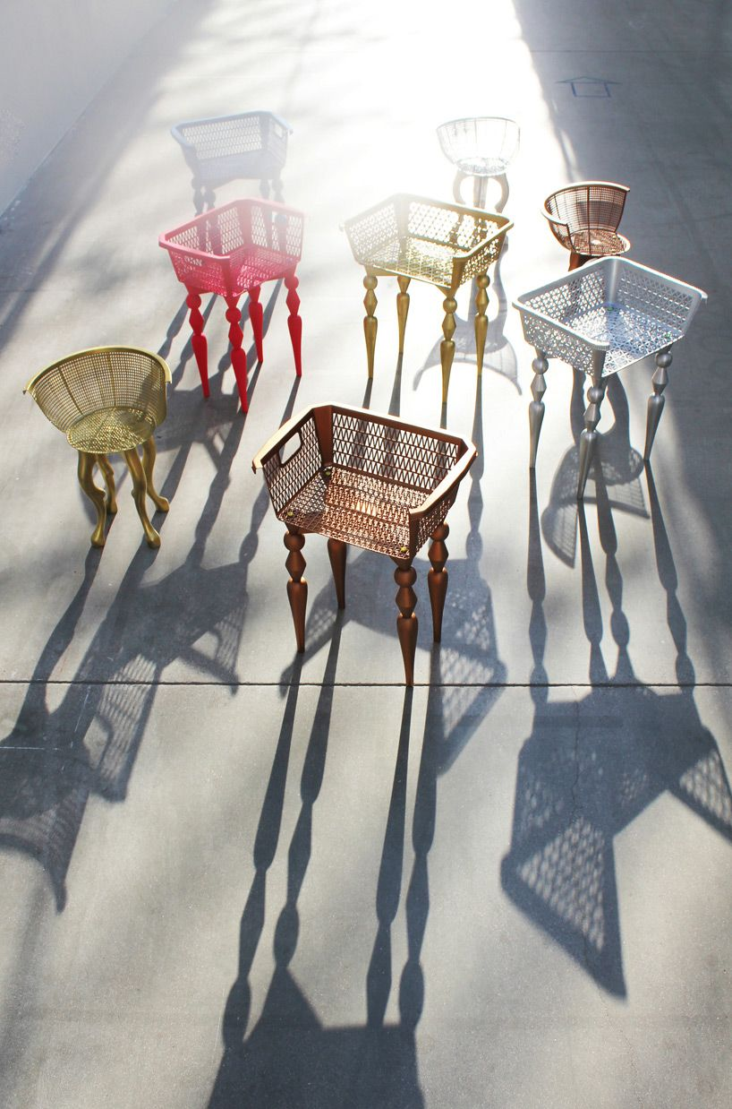 chairs made from old plastic shopping baskets | Trash-to ...