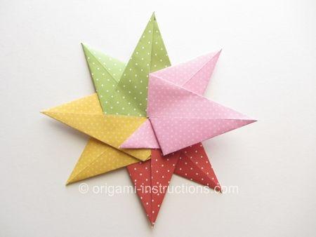 Origami fusible 8 puntas, Estrella Paso 16
