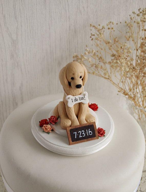 Golden Retriever Cake Topper This Listing Is For A Custom Made
