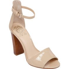 Vince Camuto Velenza - Petal Soft Cow Patent with FREE Shipping & Returns. Velenza is a stunning quarter strap sandal with an adjustable strap for a