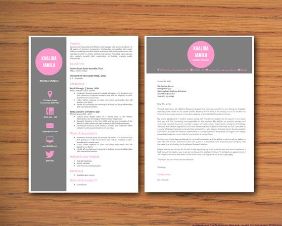 Modern Microsoft Word Resume and Cover Letter Template by INKPOWER - resume cover letter templates word