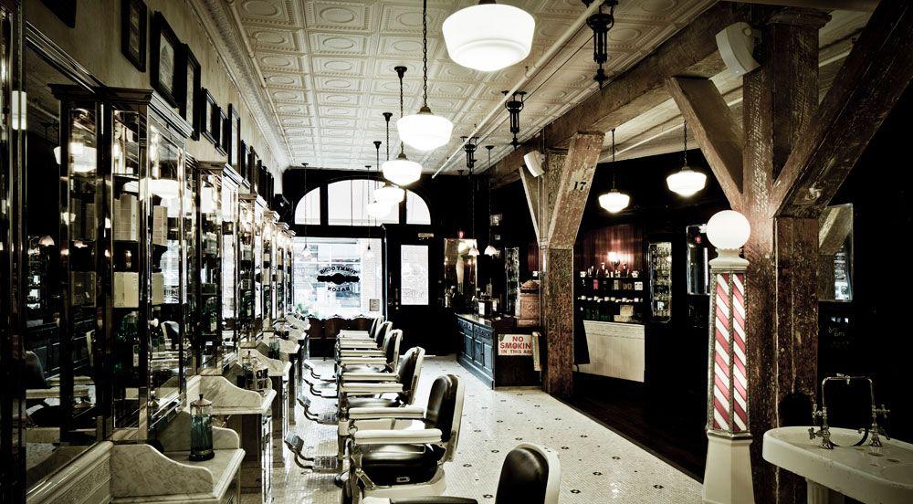 Ludlow Blunt Salon Barber shop decor, Old school barber