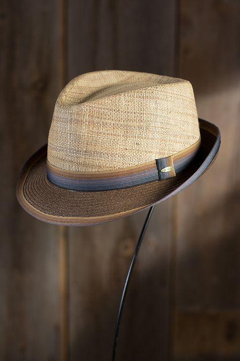 0d201f583f827 Matte Raffia and Braid Fedora Hat by Overland Sheepskin Co. (style 67410)  Trilby
