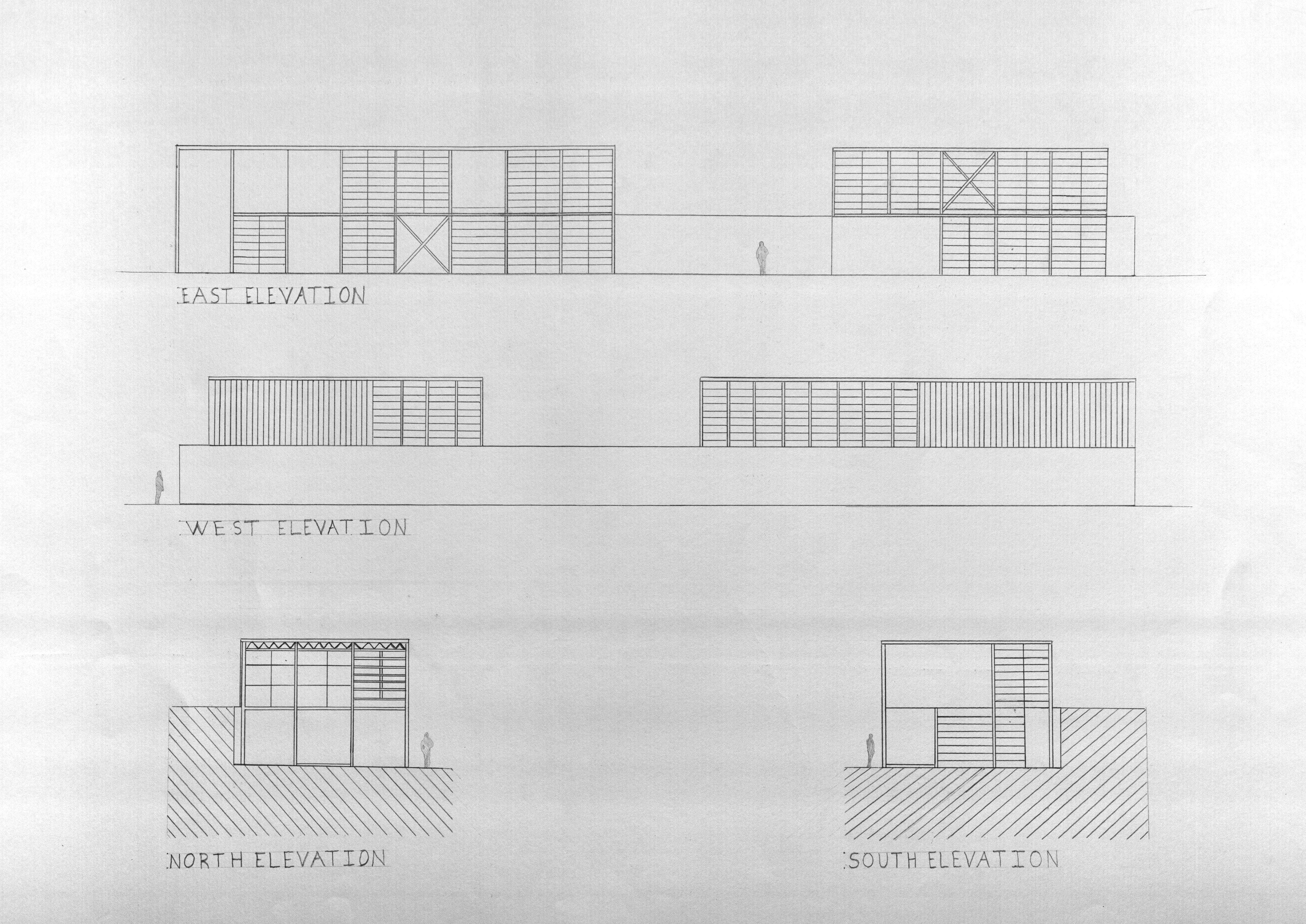 Eames House art design architecture drawing sketch
