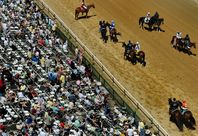 Ruler on Ice, a 24-1 long shot, wins Belmont Stakes. Somebody had a big pay day at the track! (Not me)