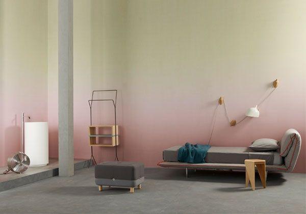 Zweifarbige Ombré-Wand. #KOLORAT #streichen #Wandgestaltung #Ombré ...