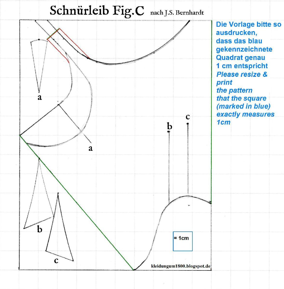 Kleidung um 1800: \'Short Stays\' Studies - Schnürleib Studien | 1750 ...