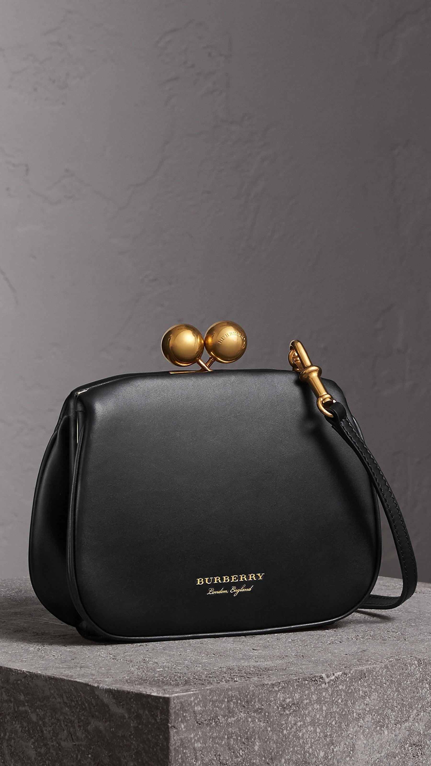 3b9edbc7548783 Small Leather Metal Frame Clutch Bag in Black - Women | Burberry United  States #clutchbags #Chanelhandbags