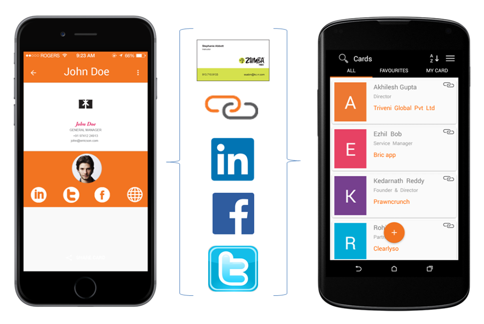 Share More Than A Businesscard With Bricapp Business Card Scanner Scanner App App