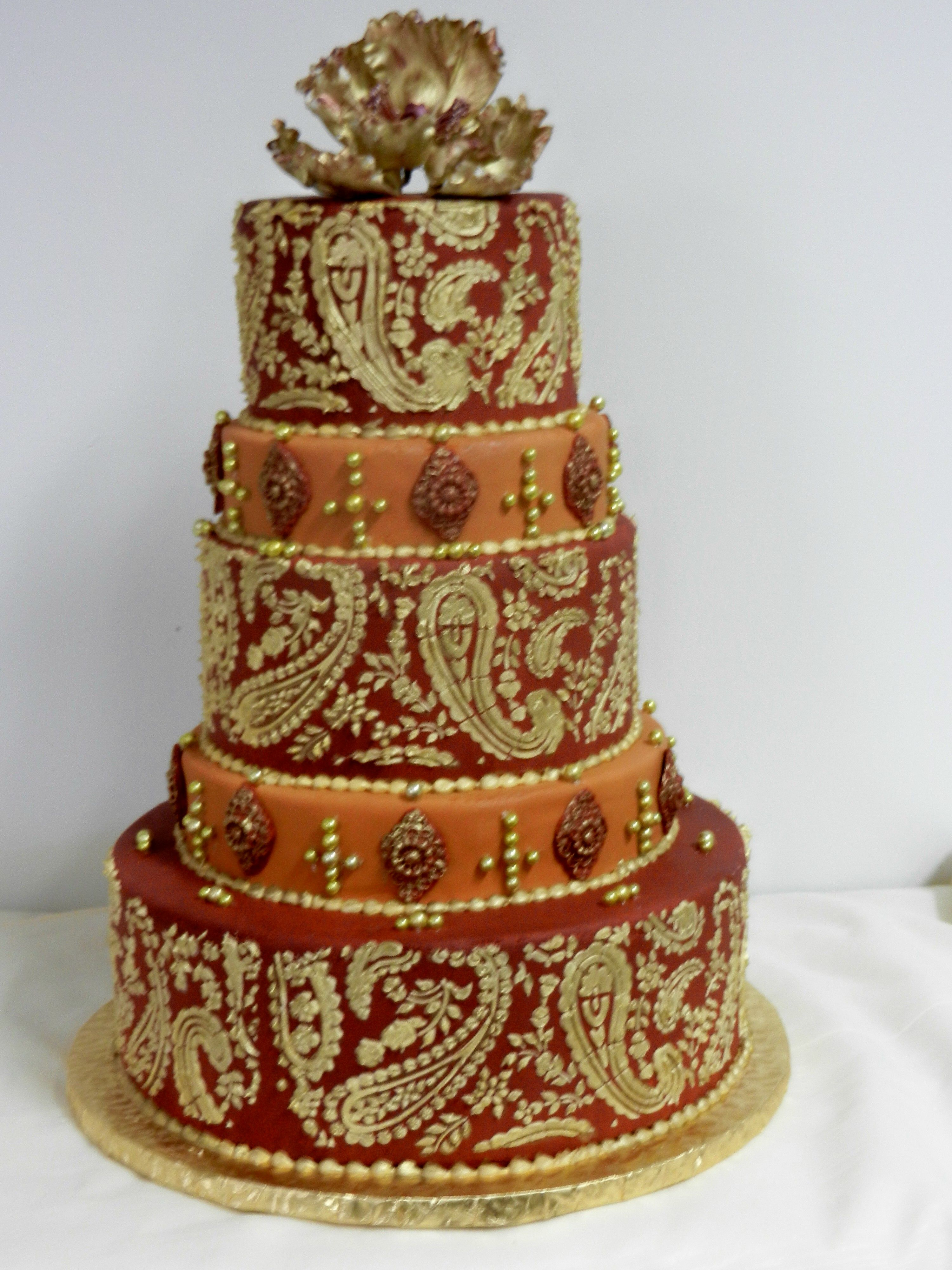 Indian Paisley Wedding Cake Cheesecake Etc Cheesecake