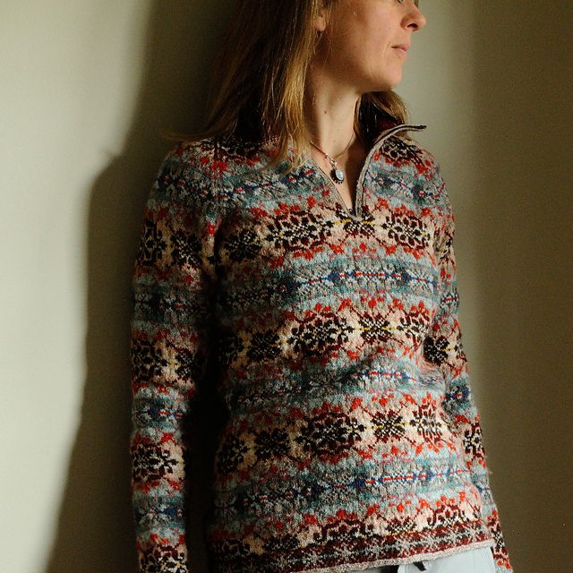 Modification Monday: Fair Isle Collared Pullover | knittedbliss ...