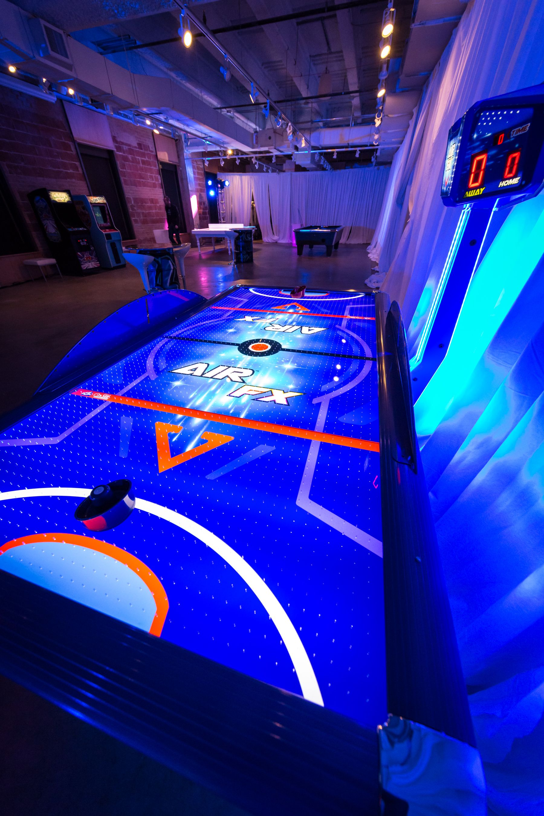 Led Air Hockey Table Air Hockey Table Air Hockey Video Game Rooms