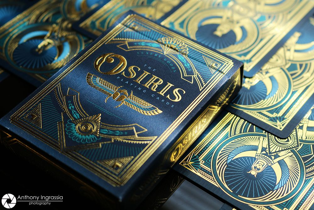 Collections anubis osiris luxury playing cards by steve
