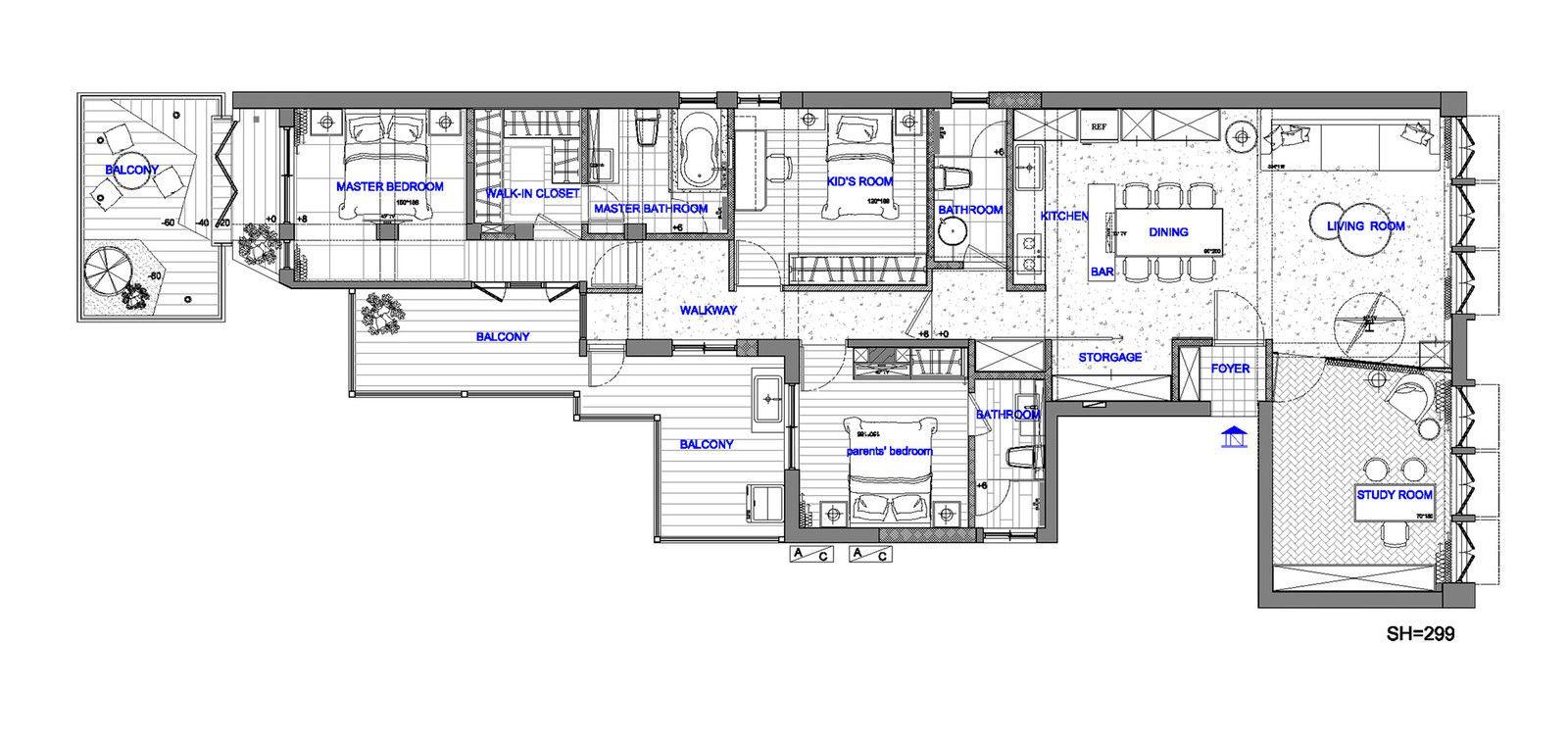 Проект обновления дизайна интерьера 40-летней квартиры выполнила компания CHI-TORCH Interior Design в Тайбэе, Тайвань.…