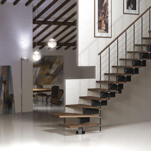 Best Vector Open Tread Modular Staircase With Dark Beech Treads 640 x 480