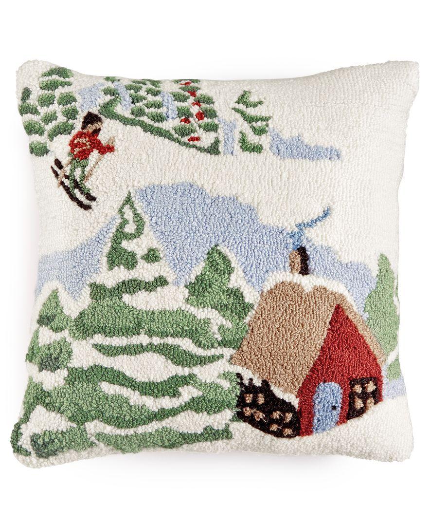 Martha Stewart Collection Winter and Animals Decorative Pillow ...