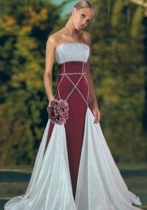 Medieval celtic style wedding dresses