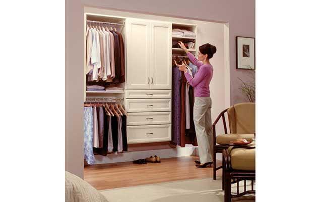 classica bisque reach in closet - Reach In Closet Design Ideas