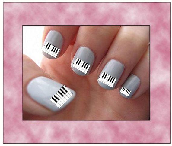 Keyboard Piano Keys Nail Fingernail Toenail Art By Rockinnails