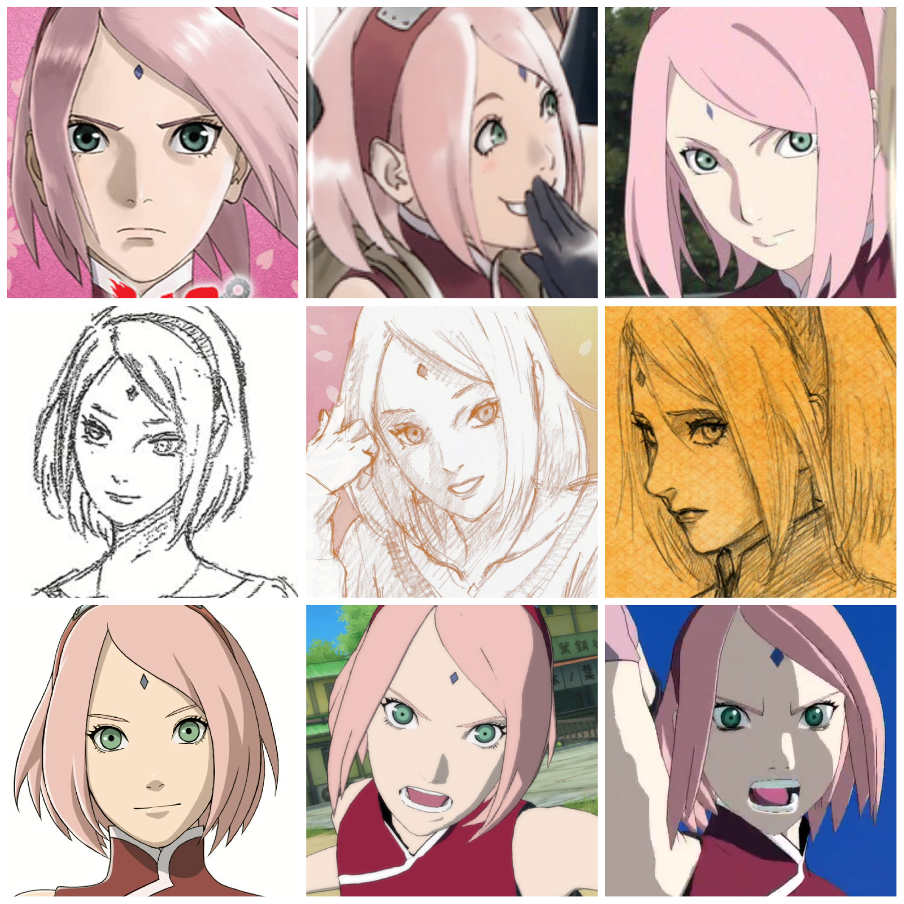 Haruno Sakura work by Studio pierrot , Masashi Kishimoto and from the game naruto ultimate ninja storm 4