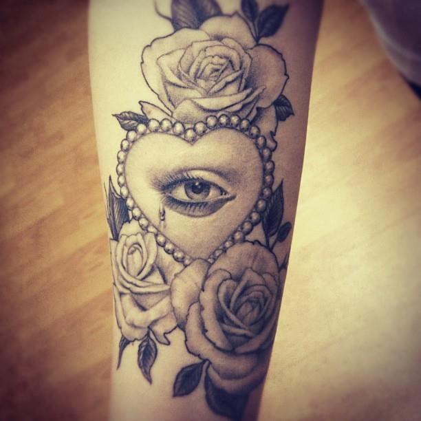 Eye And Roses Tattoo By Danktat Deviantart Com On Deviantart
