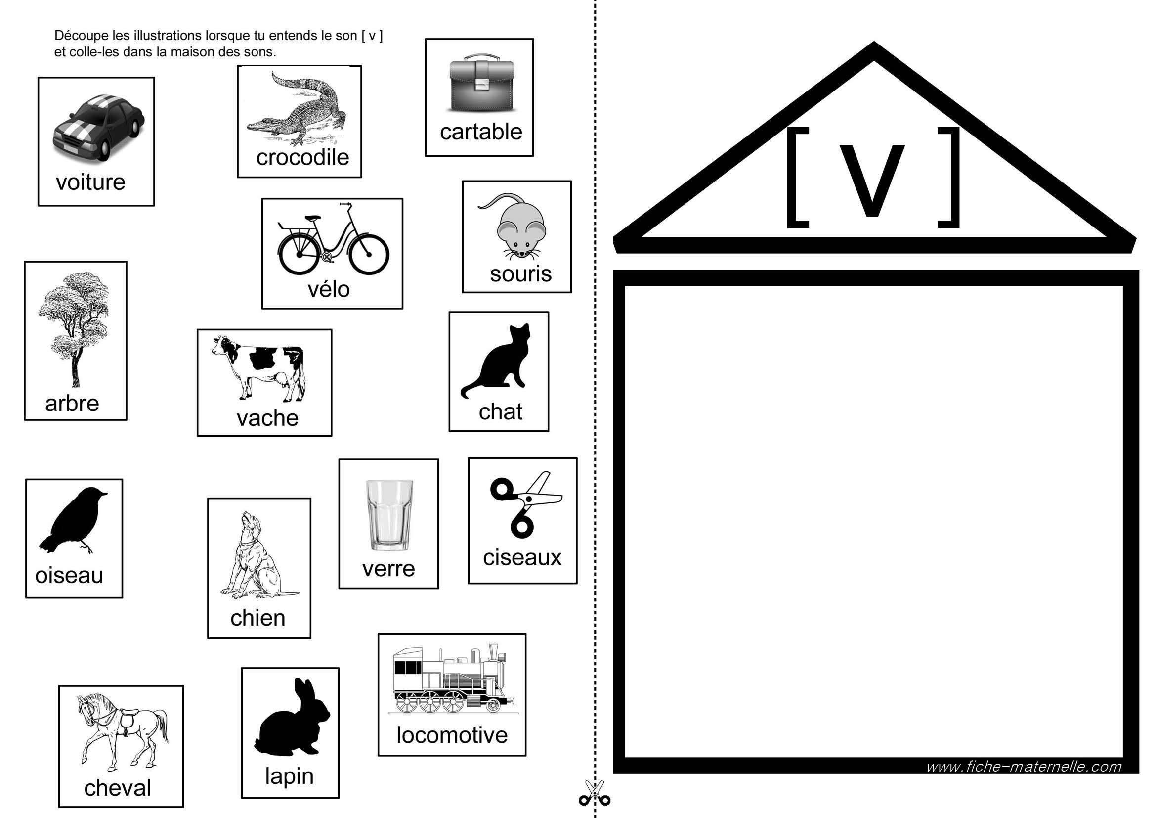 Apprendre lire en maternelle et cp exercices autour du for Apprendre les objets de la maison