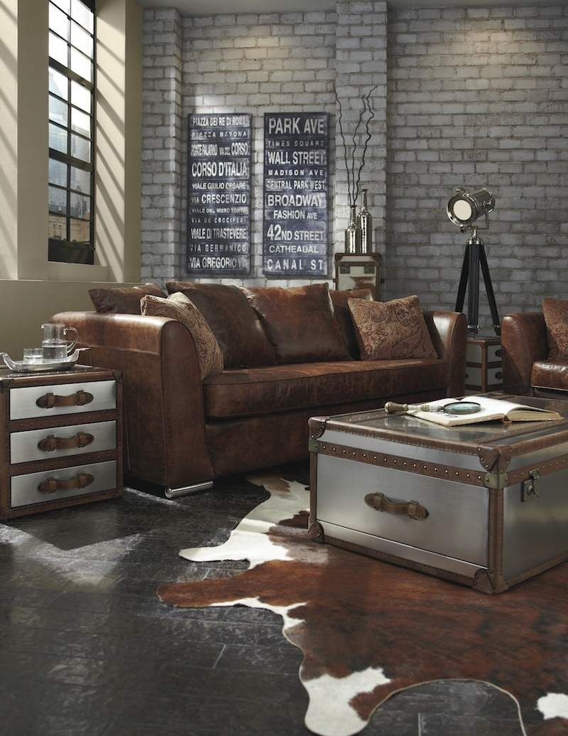 table basse industrielle 40 id es vintage ou design. Black Bedroom Furniture Sets. Home Design Ideas