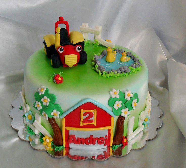 Tractor Tom Cake djecje Pinterest Cake Birthday cakes and Boy