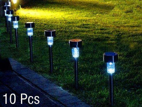 Prodeals Set Of 10 Solar Powered Led Accent Light Led Garden Lights High Output Led Solar Path Li With Images Led Garden Lights Outdoor Path Lighting Led Outdoor Lighting
