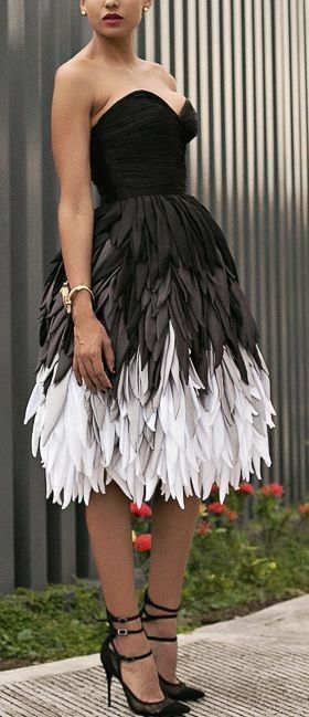Pin By Tlb Creations On Favorites White Feather Dress Black Feather Dress Feather Dress