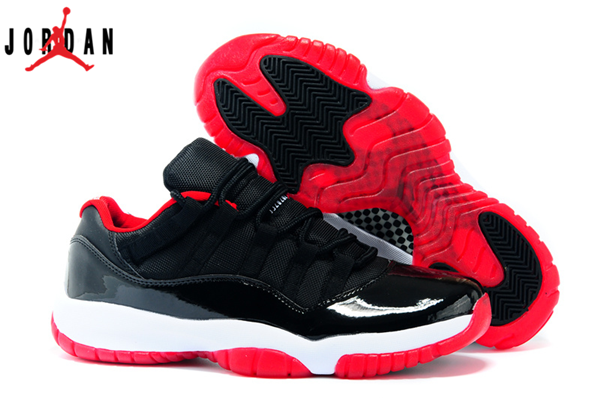 the best attitude d53d0 f3bf8 Men s Air Jordan 11 Low Bred Basketball Shoes Black True Red White 528895- 012,Jordan-Jordan 11 Shoes Sale Online