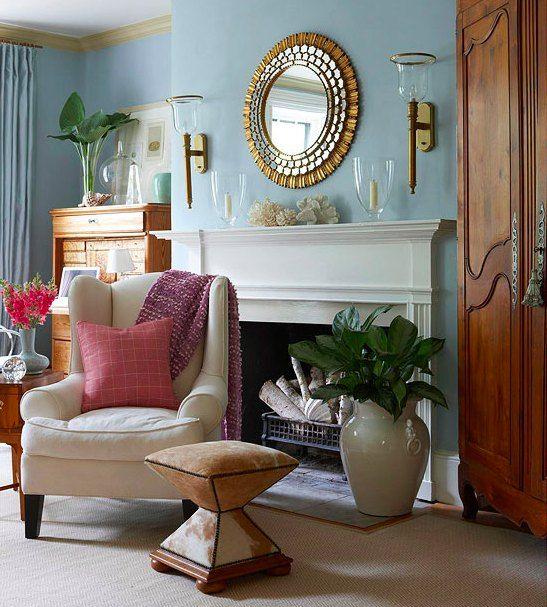 How To Decorate Around A Fireplace Condo Decorating Decor Home