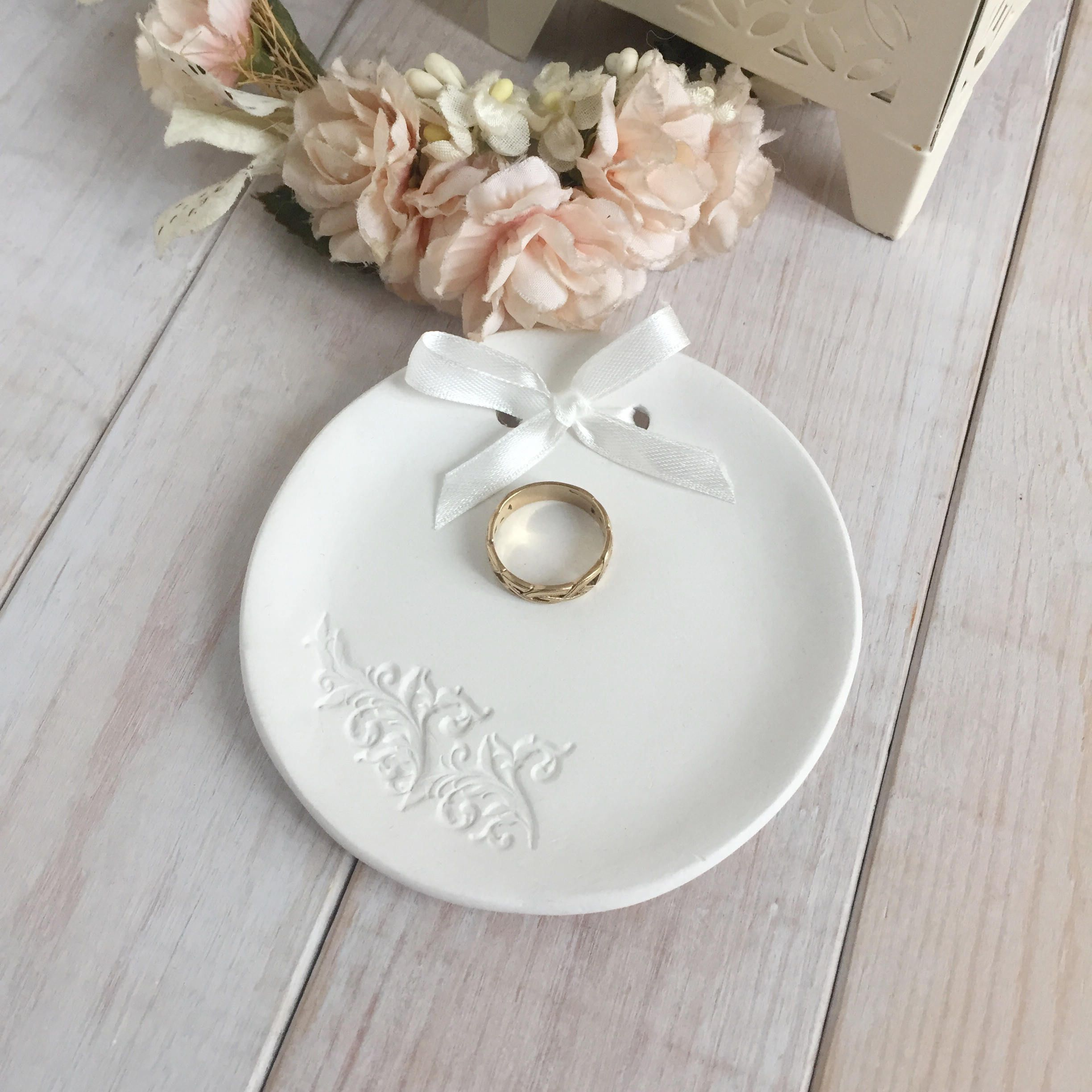 Personalised Ring Dish, Trinket Dish, Ring Bowl, Clay ring dish ...
