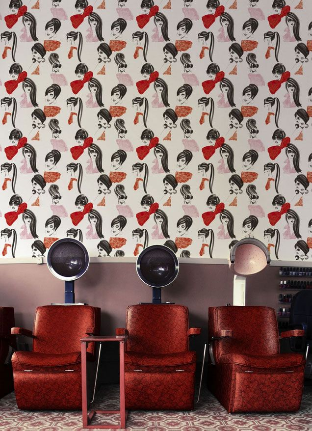 10 Cute And Quirky Wallpaper Ideas For Salons 10 S A L