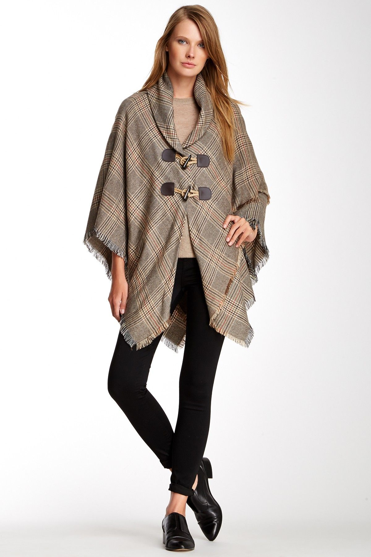 Plaid+Toggle+Poncho+by+Accessory+Street+on+@nordstrom_rack