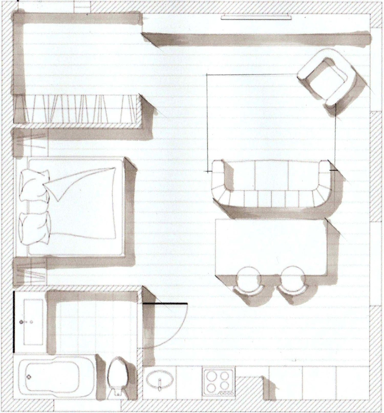Step By Step D Sketches Of A Dining Room