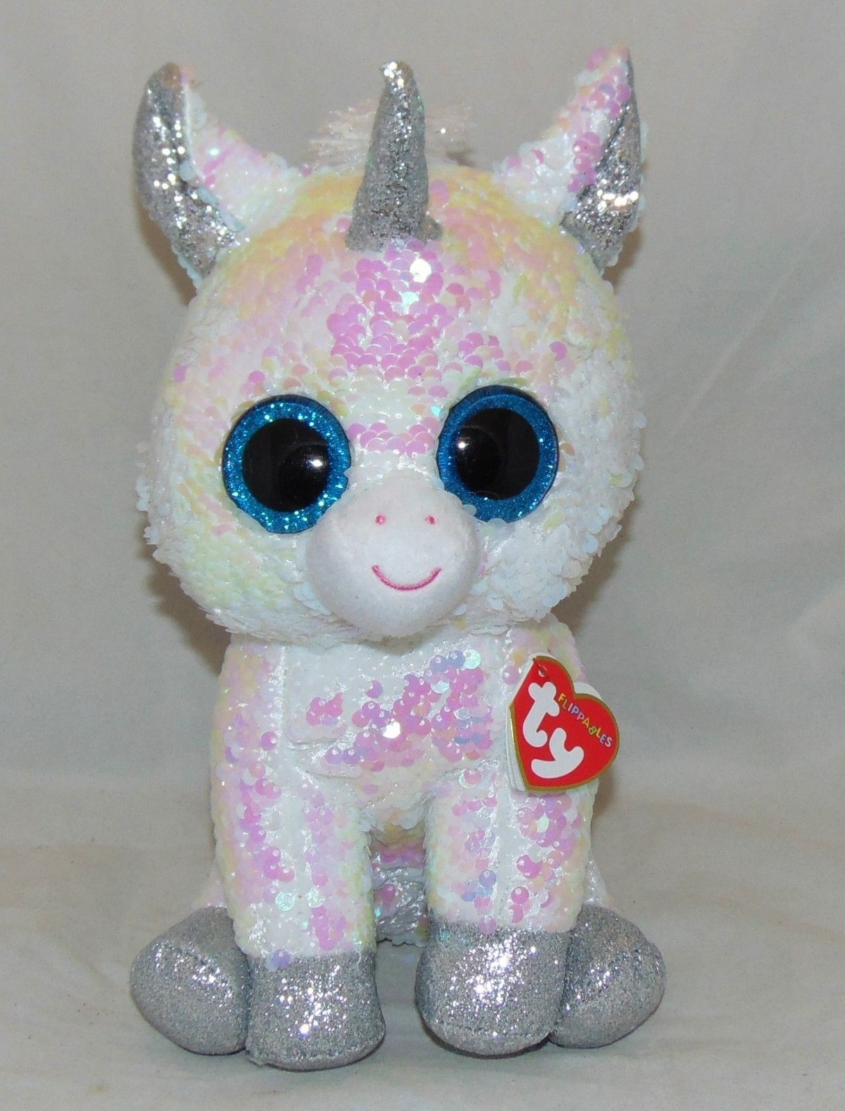 Ty 19203  Hot New Toy! Ty Flippables Diamond Unicorn Color Changing Sequins  Medium 9 Htf -  BUY IT NOW ONLY   16.99 on  eBay  flippables  diamond   unicorn ... 29649608c922