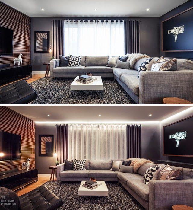 ANTES Y DESPUÉS: De salón anticuado a actual, elegante y sofisticado ...