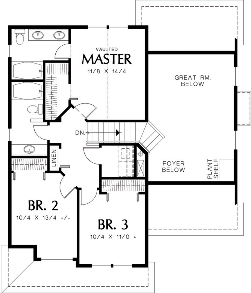 traditional style house plan 3 beds 2 5 baths 1500 sq ft plan