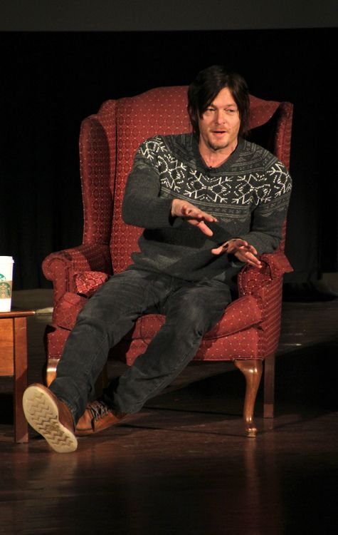 Norman Reedus. I love the sweater!